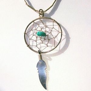 .925 sterling silver dreamcatcher w/turquoise